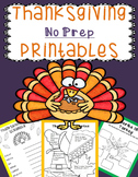 Thanksgiving Activities Kindergarten, 1st Grade, 2nd Grade