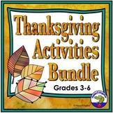 Thanksgiving Activities Bundle Grades 3 - 6
