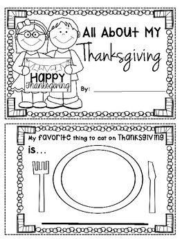 Thanksgiving Literacy Activities and Crafts