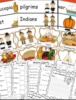 Thanksgiving Activities Math and Literacy Bundle Fall Activities