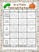 Thanksgiving Choice Board Writing Activities, Game, Rubric, &  Templates