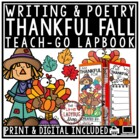 Thanksgiving Writing, I am Thankful For... Fall Activities & Thanksgiving Poetry