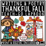 Thanksgiving Writing, I am Thankful For... Fall Activities