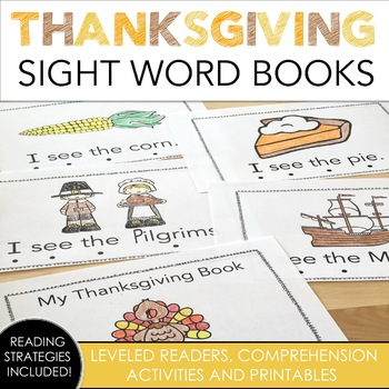Thanksgiving Sight Word Books
