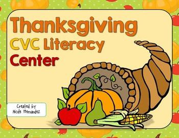 Thanksgiving CVC Literacy Center Activities