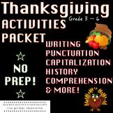 Thanksgiving Writing Thanksgiving language arts Thanksgivi