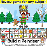 Christmas Activities Build a Reindeer Game - Review Any Subject SmartBoard Game