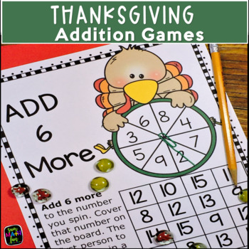 Thanksgiving Activities Differentiated Addition Games
