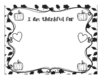 Thankful Thanksgiving Activities (In Black & White and Color)