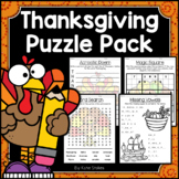 Thanksgiving Activities - Math & Literacy Puzzles | Early