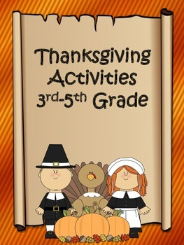 Thanksgiving Activities 3rd-5th Grade