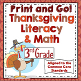 Thanksgiving Activities - 3rd Grade Thanksgiving Math and Literacy