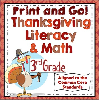 Thanksgiving Activities - 3rd Grade Thanksgiving Math and Literacy