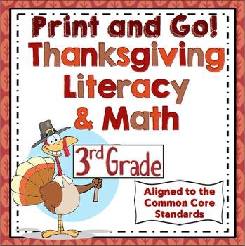 3rd Grade Thanksgiving Activities - 3rd Grade Thanksgiving Math and Literacy