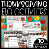 Thanksgiving Activities Language Arts | Digital Google Sli
