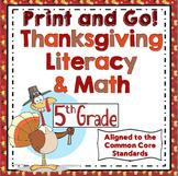 5th Grade Thanksgiving Activities: 5th Grade Thanksgiving ELA and Math