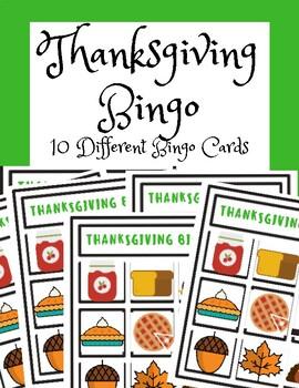 Thanksgiving Activities- BINGO