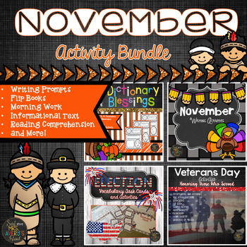 Thanksgiving and November Activities Bundle
