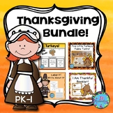 Thanksgiving Activities Bundle for PK, Kindergarten and Fi