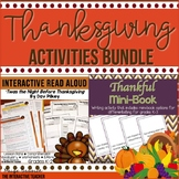 Thanksgiving Activities Bundle: Interactive Read Aloud & Thankful Writing Book