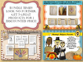 Thanksgiving Activities Bundle with Clip Art Glyph Writing