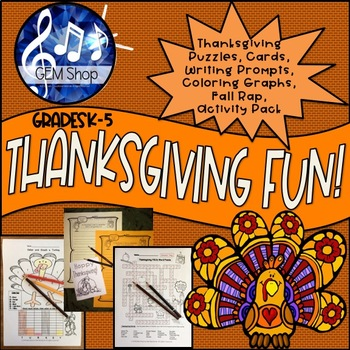 Thanksgiving Activities, Cards, Fun Puzzles, Anagrams, Differentiated Writing