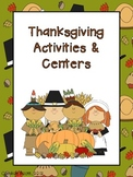 Thanksgiving Activities & Centers