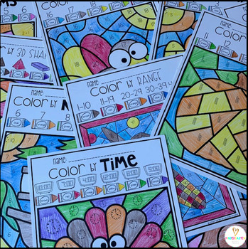 Thanksgiving Activities Color by Skills for Preschool and Kindergarten