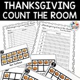 Turkeys Count the Room Thanksgiving Activity