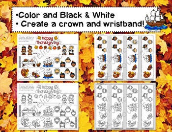 Thanksgiving Activities : Crowns and Wristbands - Thanksgiving Craft