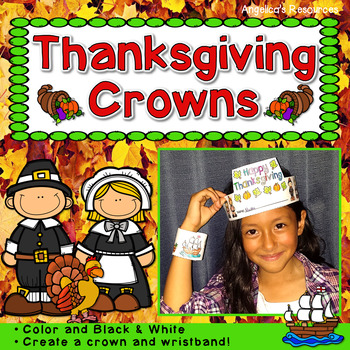 Thanksgiving Activity : Crowns and Wristbands