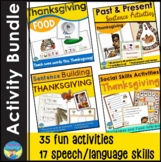 Thanksgiving Speech Language Picture Activities Bundle for