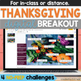 Thanksgiving Activities Digital Breakout