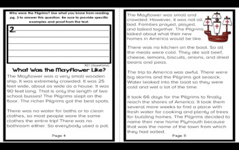 Thanksgiving Activities: Digital Version Reader for Second and Third Grade