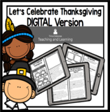 Thanksgiving DIGITAL Nonfiction Reader: Let's Celebrate Thanksgiving