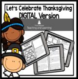 Thanksgiving Activities: Digital Version Reader for Second