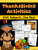 Thanksgiving Activities - Five Subjects, One Day!