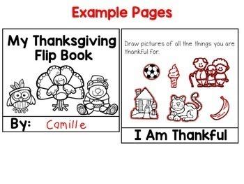 Thanksgiving Activities - Flip Book (1st-2nd)
