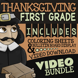 Watch & Color Thanksgiving Activities For 1st Grade ★ Thanksgiving Activities