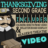 Thanksgiving Activities For 2nd Grade ★ Reader's Theatre, Video & Bulletin Board
