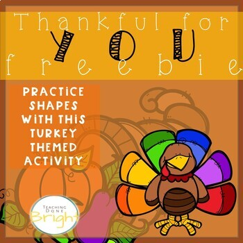Thanksgiving Activities For Preschool - Shapes