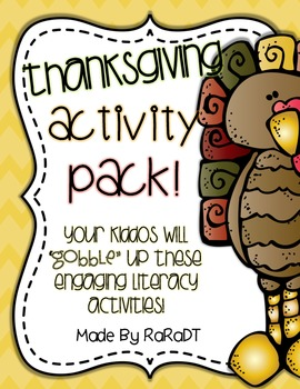Thanksgiving Activities Literacy Pack