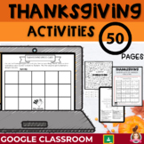 Thanksgiving Activities | Google Classroom | Distance Learning