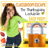 Activities for Thanksgiving Digital Escape Room Math DISTA