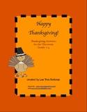 Thanksgiving Activities Grades 2-4