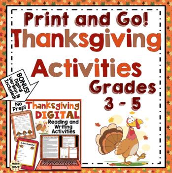 Thanksgiving (3rd - 5th Grade)