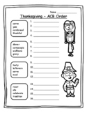 Thanksgiving Grammar Thanksgiving ABC Order Thanksgiving 2nd Thanksgiving ELA