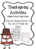 Thanksgiving Activities High School and Middle School
