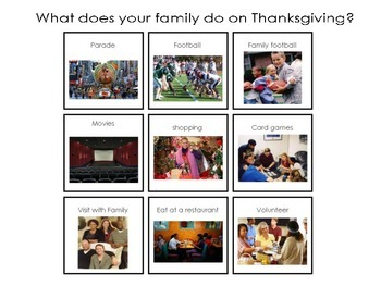 Thanksgiving Activities- I am Thankful for...