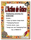 Thanksgiving Activities-In French (FSL Core and Immersion)